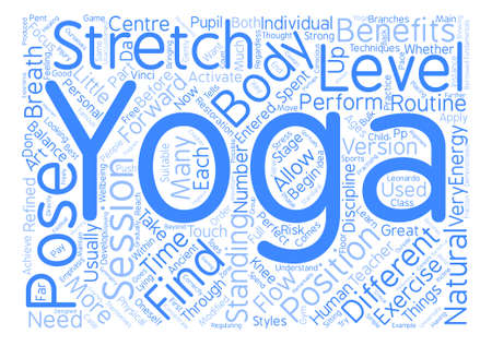 get across: How To Get The Most From Yoga text background word cloud concept