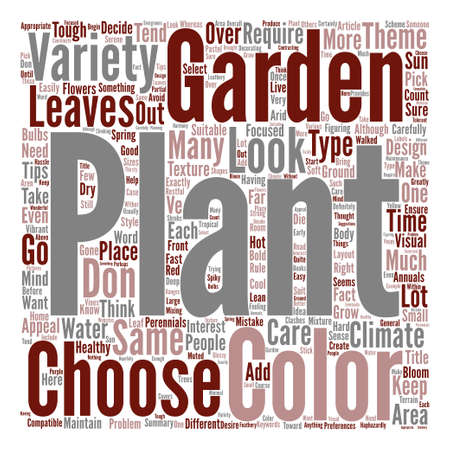 Variety In Garden Plants How Much Is Too Much Word Cloud Concept Text Background