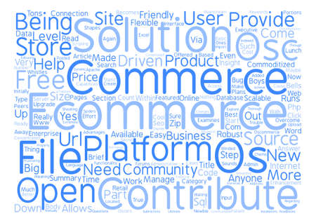 os: OS Commerce Word Cloud Concept Text Background