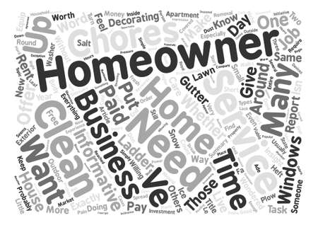 homeowners: What Will Be Service Needed By Homeowners Word Cloud Concept Text Background