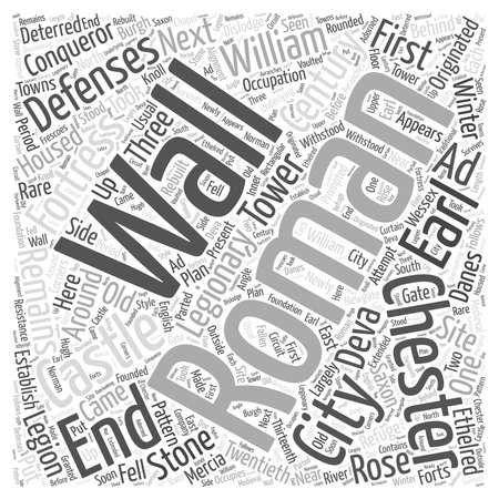 Chester Castle Word Cloud Concept Vector Illustration