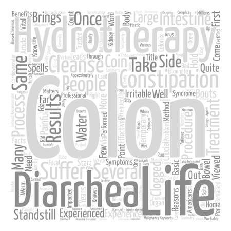 Hydrotherapy Basic Facts text background word cloud concept Çizim