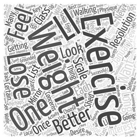 Exercise to lose weight Word Cloud Concept
