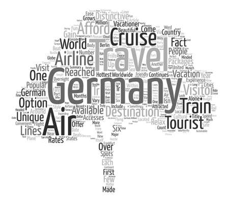 distinctive: Travel To Germany text background word cloud concept