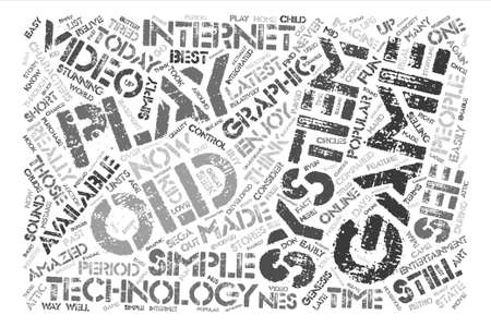 relive: old video game systems Word Cloud Concept Text Background