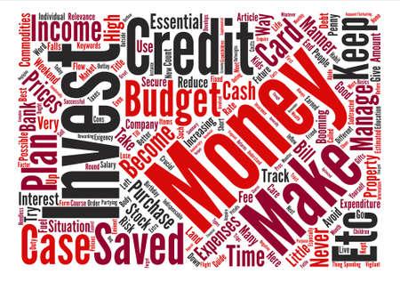 Money management guide text background word cloud concept