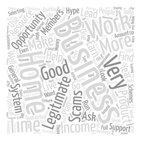 legitimate: Legitimate Work From Home Opportunities text background word cloud concept