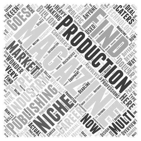 careers in magazine publishing Word Cloud Concept
