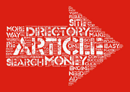 Your Own Article Directory The Road To Easy Money text background word cloud concept