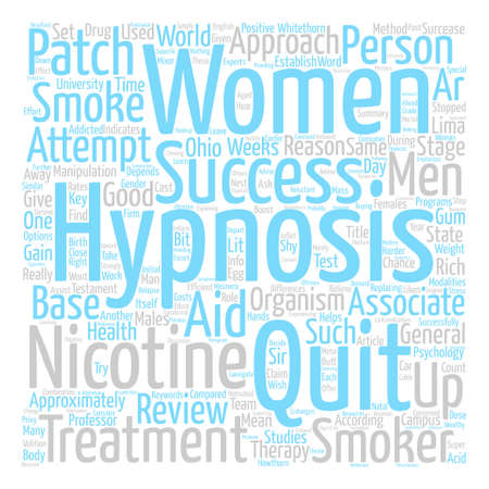 quit: Hypnosis Helps Men Quit Word Cloud Concept Text Background Illustration