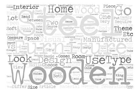 articles of furniture: Wooden Vs Steel Furniture Which one should I choose Word Cloud Concept Text Background Illustration