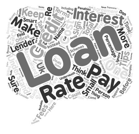 Tips On How Not To Get A Loan Word Cloud Concept Text Background