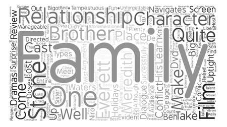 The Family Stone DVD Review text background word cloud concept Иллюстрация