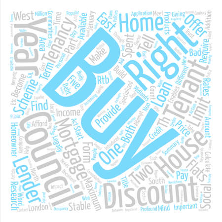 Right to buy your right to buy your home Word Cloud Concept Text Background Illustration