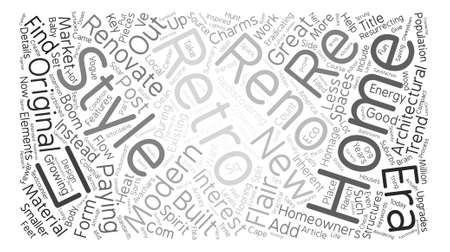 Why Renovate When You Can Retro Reno Word Cloud Concept Text Background