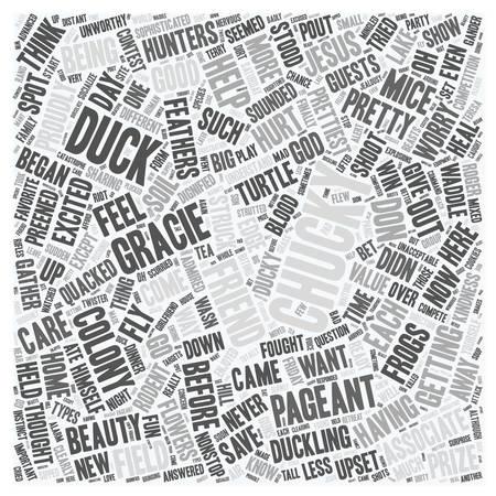 chucky: Chucky the Ducky text background wordcloud concept Illustration