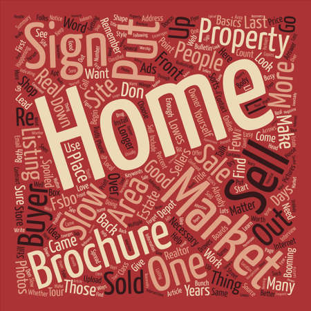How to Sell Your Home in a Slow Market Word Cloud Concept Text Background