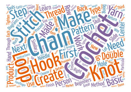 according: How to crochet Word Cloud Concept Text Background