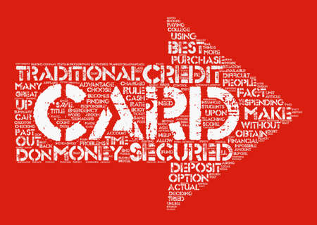 obtaining: Secured Credit Cards Word Cloud Concept Text Background