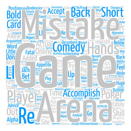 The Worst Mistakes in Poker Word Cloud Concept Text Background
