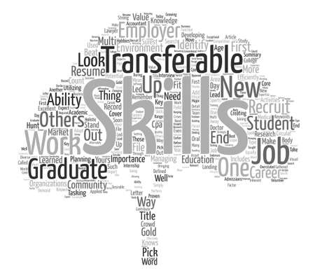 transferable: The Importance of Transferable Skills for Graduates text background word cloud concept