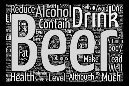 The Pros And Cons Of Beer text background word cloud concept