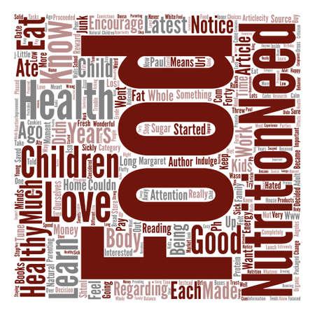 食べ物と子供のテキスト背景単語クラウド コンセプトが大好き