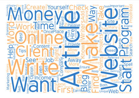heard: Tips That Can Help You Write Articles for Money text background word cloud concept
