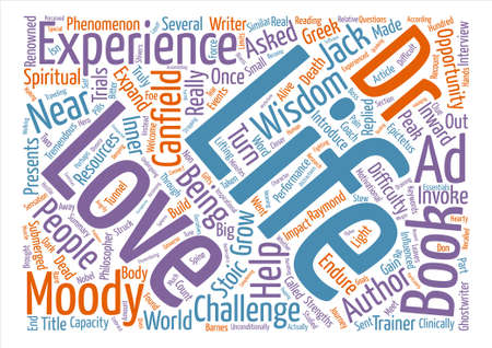 Near Life Experience Word Cloud Concept Text Background Ilustração