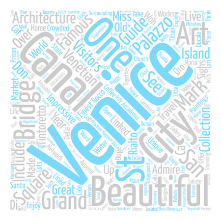 Venice City Guide text background word cloud concept