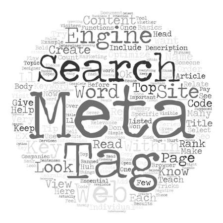 meta: How To Create Meta Tags To Optimize Your Web Site text background word cloud concept
