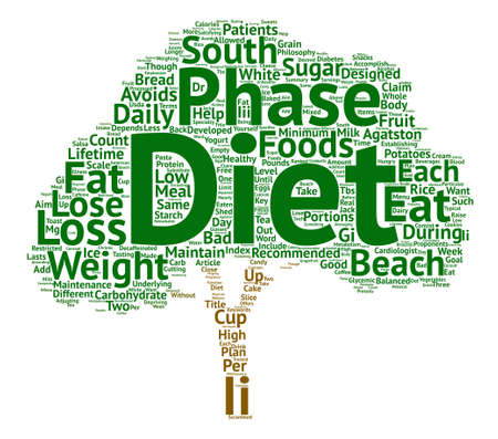 developed: What Is The South Beach Diet text background word cloud concept