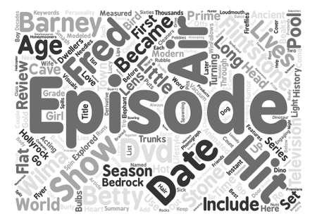 bedrock: The Flintstones DVD Review text background word cloud concept