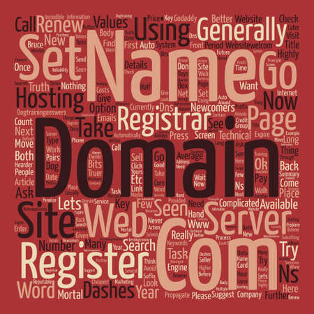 mortal: How to Register a New Domain Name text background word cloud concept