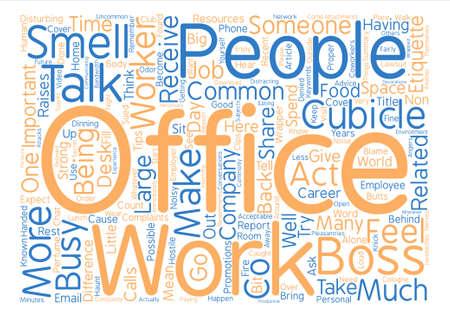 Meest voorkomende Werkgever Klachten Word Cloud Concept Tekst Achtergrond