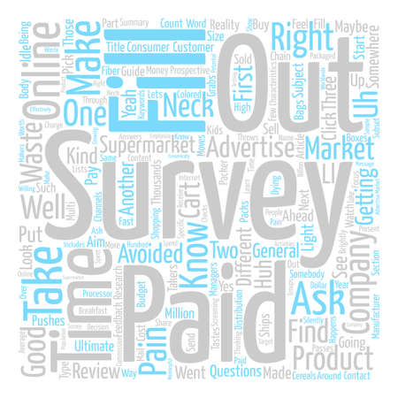 How Do You Get Paid For Surveys Word Cloud Concept Text Background Illustration