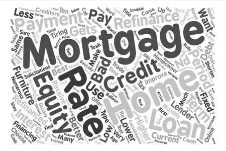 Mortgages And Equity Loans How To Choose text background word cloud concept