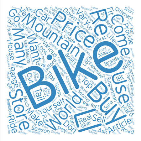 mount price: How To Buy A Mountain Bike text background word cloud concept Illustration