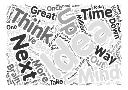 matter: Top Seven Tips To Think Your Way To Success text background word cloud concept