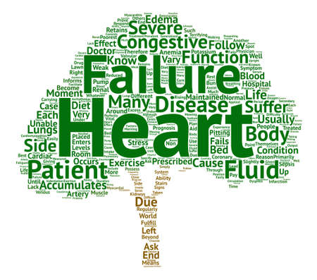 informs: What is Congestive Heart Failure text background word cloud concept Illustration