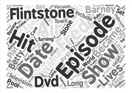 bedrock: The Flintstones DVD Review Word Cloud Concept Text Background Illustration