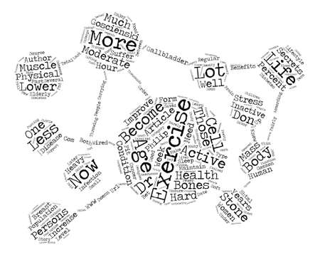Hard wired for Exercise text background word cloud concept Illustration