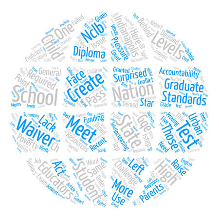 Waivers Create Conflict In Indianapolis Schools text background word cloud concept