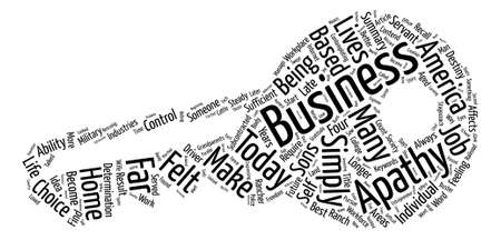 apathy: Home based Business The Apathy Buster text background word cloud concept
