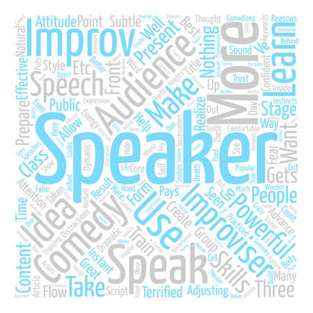 Improv Comedy for Speakers Word Cloud Concept Text Background