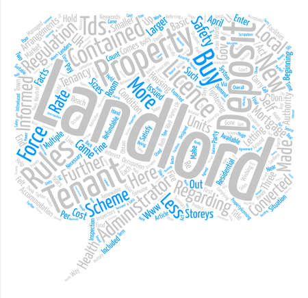 New Rules For Buy To Let Landlords text background word cloud concept