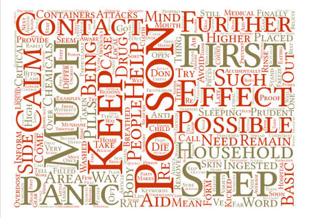 Things You Need To Keep In Mind When Poisoned text background word cloud concept Illustration