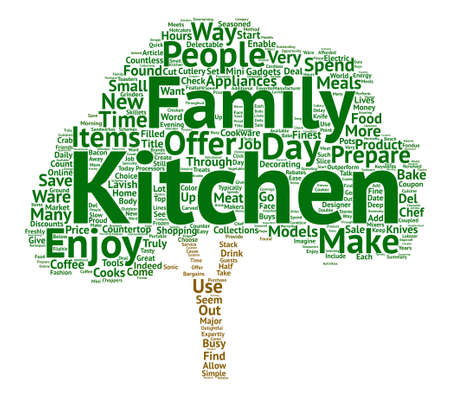 Kitchen Product Collections text background word cloud concept
