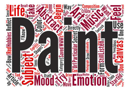 How to Paint Abstract Art text background word cloud concept