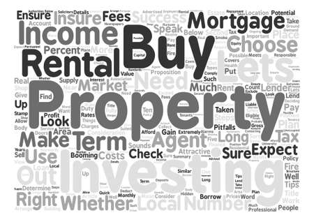 Tips For Buy To Let Investment Success text background word cloud concept